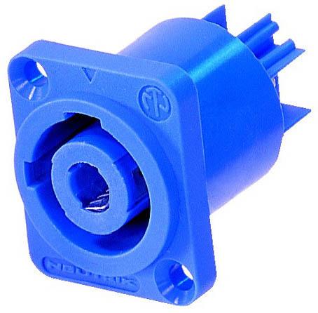 Nac3mpa Blue Powercon 20 Amp Power In Male Panel Jack