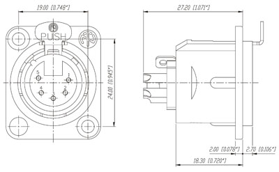 Wiring moreover Male Female Plug Adapter furthermore Wiring Diagram For Standard  puter Mic Jack in addition Xlr To Trs Wiring Diagram together with 4 Pin Molex Connector. on xlr connector wiring diagram
