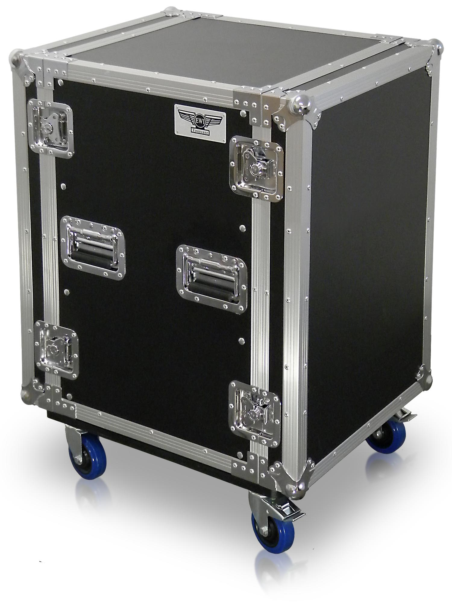 R16u16SpaceHeavyDutyAmplifierRackCaseWithCasters