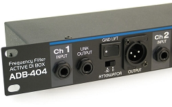 ADB-404 | Four Channel Rack Mount Active Direct Input Box