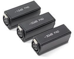 XLR In-line Signal Attenuating Adapters
