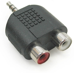 CC-310 | Stereo Female RCA to Male 3.5mm TRS adapter, plastic