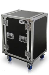 R16U | 16 Space Heavy Duty Amplifier Rack Case with Casters