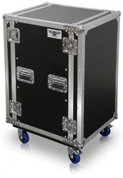 R18U | 18 Space Heavy Duty Amplifier Rack Case with Casters