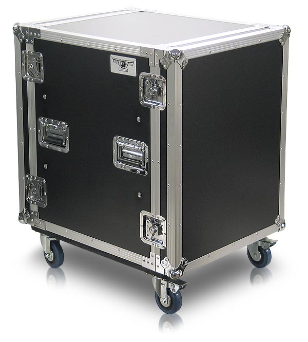 AU-22 | Heavy Duty Shock Rack Road Case with Casters and Extended 22