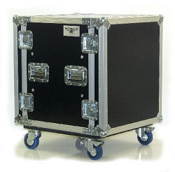 AU | Heavy Duty 2 Lid Shock Amplifier Rack Road Case with Casters | 10U, 12U, 14U, 16U, 18U