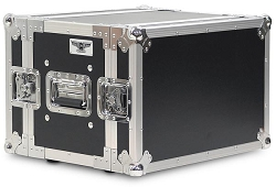 A6UE-10 | 6 Space, Heavy Duty, 2 Lid, Anti-Shock, Rack Case with 10