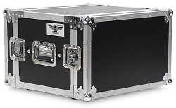 A6UE-14 | 6 Space, Heavy Duty, 2 Lid, Anti-Shock, Rack Case with 14