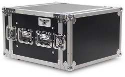 A6UE | 6 Space, Heavy Duty, 2 Lid, Anti-Shock, Rack Road Case with 18
