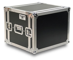 A8UE-14 | 8 Space, Heavy Duty, 2 Lid, Anti-Shock, Rack Case with 14