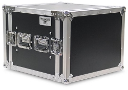 A8UE | 8 Space, Heavy Duty, 2 Lid, Anti-Shock, Rack Case with 18