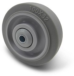 BBT-SF-WHL | Four Inch Soft Grey Caster Wheel