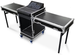CUDJ-P-22M-D5 | Extra Deep Rack Case with Slant Top Mixer Rails, Table Top Lids and Deep Doors | 12U, 16U
