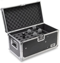 M024-30MM | Medium Duty 24 Mic Road Case with DI Compartment