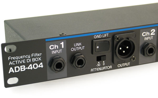 Adb 404 Four Channel Rack Mount Active Direct Input Box
