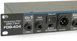 FDB-404 | Four Channel Rack Mount Passive Direct Input Box