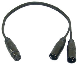 YFMM | XLR Splitter Cable | Two-fer | FXLR x 2 MXLR