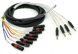 MTIS-FM 4 Channel TRS x 8 Channel XLR Insert Snakes for Ring Send/Tip Return Boards