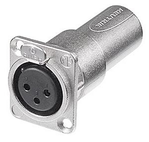 NA3FDM | Neutrik XLR Female to XLR Male Panel Mount Feedthrough Adapter