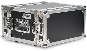 "A4UE-10 | 4 Space, Heavy Duty, 2 Lid, Anti-Shock, Rack Case with 10"" Rack Depth"