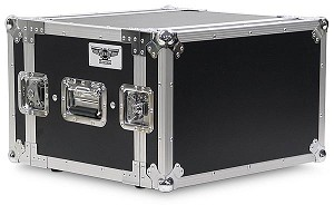"A6UE-14 | 6 Space, Heavy Duty, 2 Lid, Anti-Shock, Rack Case with 14"" Rack Depth"