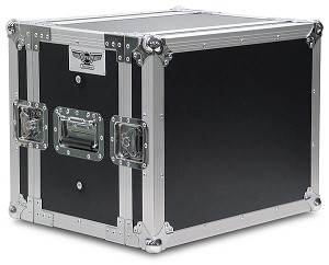 "A8UE-10 | 8 Space, Heavy Duty, 2 Lid, Anti-Shock, Rack Case with 10"" Rack Depth"