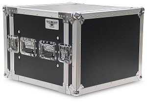 "A8UE | 8 Space, Heavy Duty, 2 Lid, Anti-Shock, Rack Case with 18"" Rack Depth"