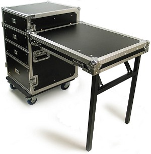 DR002H-2T | Road Case Style 4 Drawer Tool Box With Tabletop Door