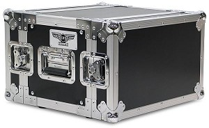 "R6UE-10 | 6 space x 10"" rack depth 2 Lid Effects Rack Case"