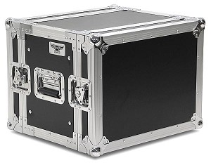 "R8UE-10 | 8 space x 10"" rack depth 2 Lid Effects Rack Case"