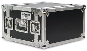 "R6UE-12 | 6 space x 12"" rack depth 2 Lid Effects Rack Case"