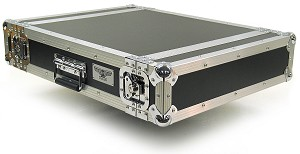 "R2UE-18 | 2 space x 18"" rack depth 2 Lid Amplifier Rack Case"