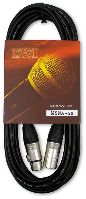 "MSNA ""Slimline""  XLR Microphone Cable with Neutrik XX cord ends"