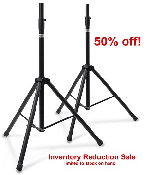 AMS-001A-NB | Medium Duty Speaker Stand Pair ***50% off*** $35.00!!